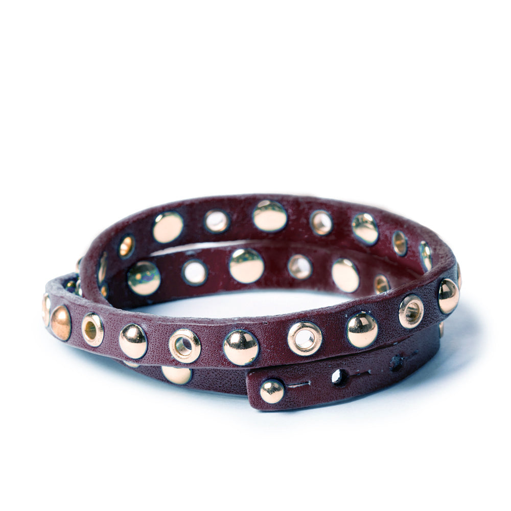 Double Wrap Bracelet | Dark Brown