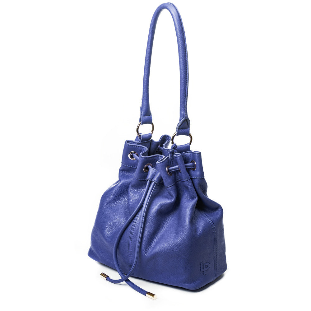 Linea Pelle Dylan Bucket Bag in Cobalt