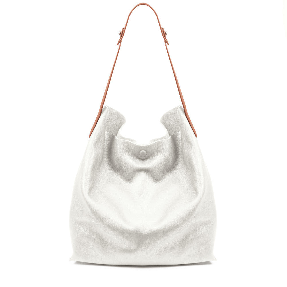 Linea Pelle Hunter Studded Hobo Bag in Bone