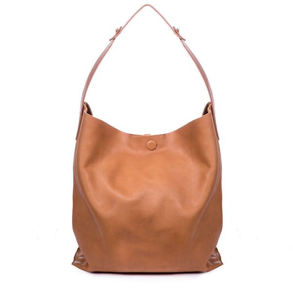 Love the hobo bag. I use it every day just the right size. I ordered the cognac color, but it looks more tan than cognac. Received several comments on the bag.