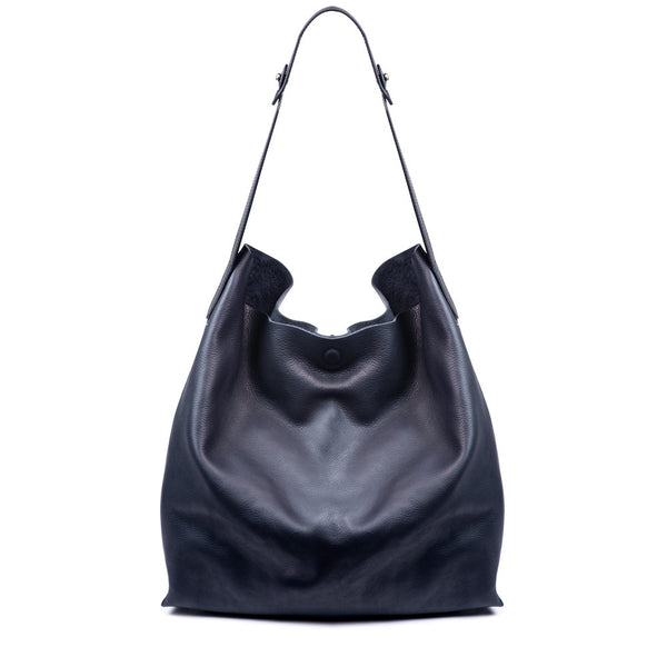Linea Pelle Hunter Studded Hobo Bag in Navy