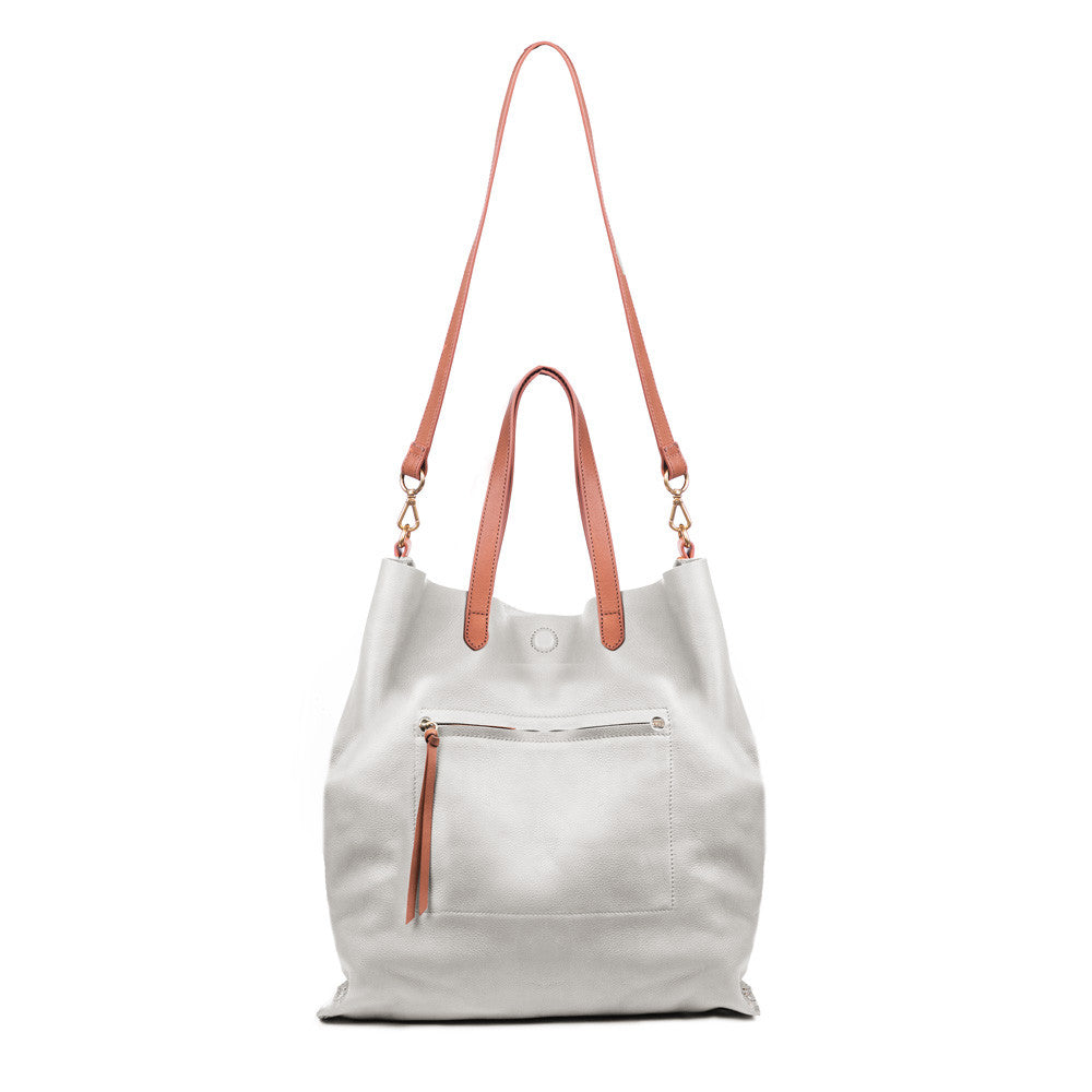 Linea Pelle Hunter Studded Tote in Bone