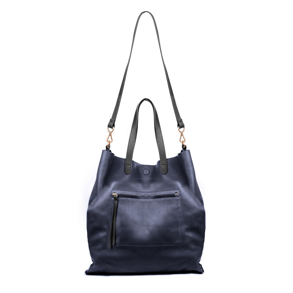 Linea Pelle Hunter Studded Tote in Navy