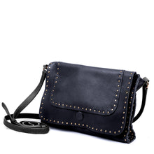 Load image into Gallery viewer, Linea Pelle Hunter Studded Crossbody Bag in Navy