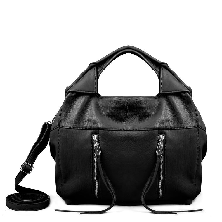 Linea Pelle Wyatt Large Tote Bag in Black
