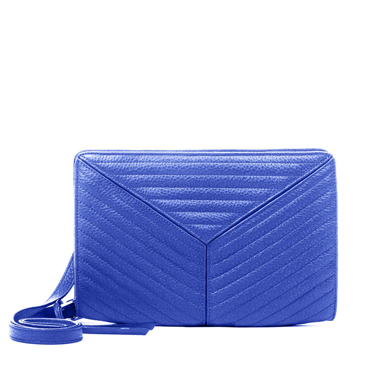 Linea Pelle Gianna Crossbody Bag in Cobalt