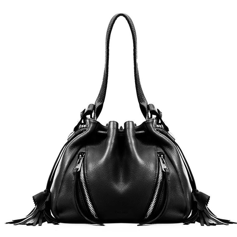 Linea Pelle Ryan Bucket Bag in Black