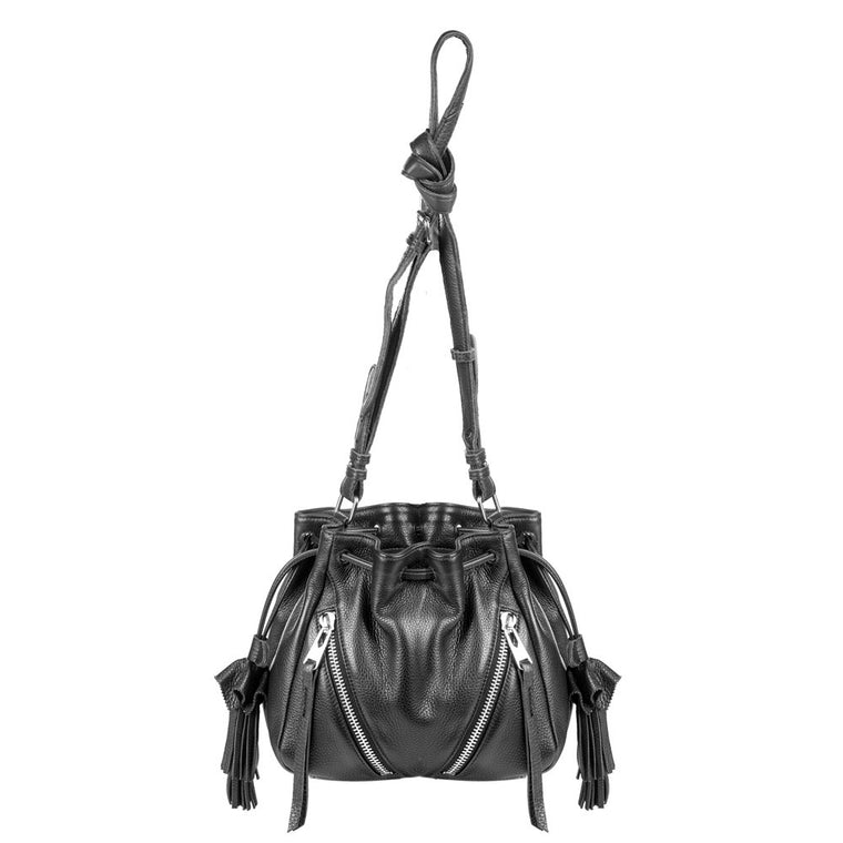 Linea Pelle Ryan Mini Bucket Bag in Black