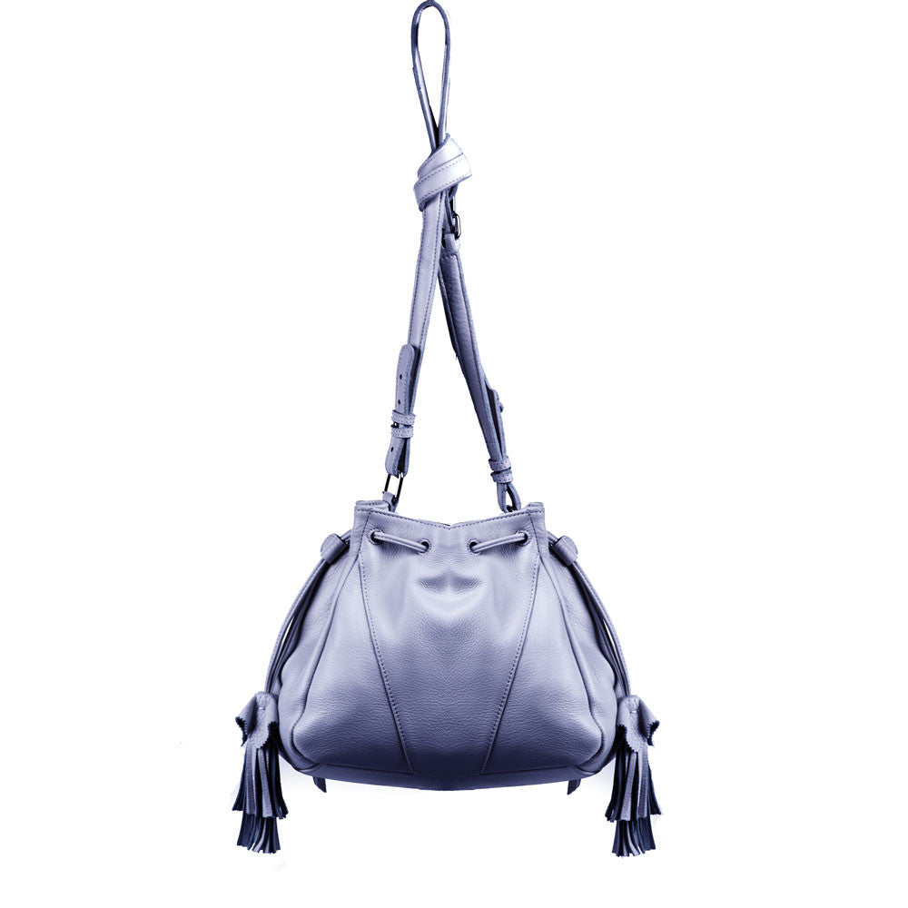 Linea Pelle Ryan Mini Bucket Bag in Slate