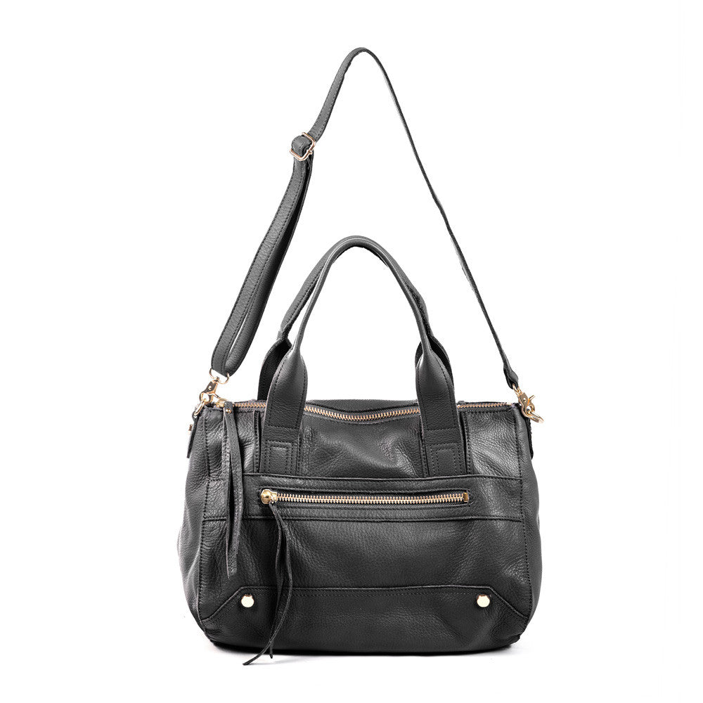 Linea Pelle Walker Satchel in Black