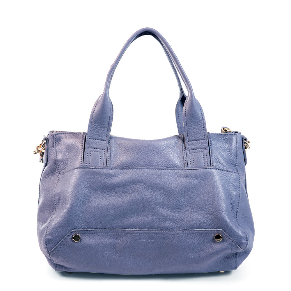Linea Pelle Walker Satchel in Slate