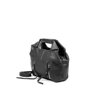 Linea Pelle Wyatt Mini Tote Bag in Black