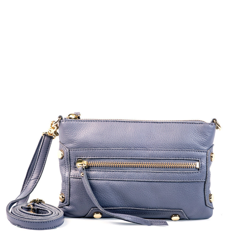 Linea Pelle Walker Crossbody Bag in Slate
