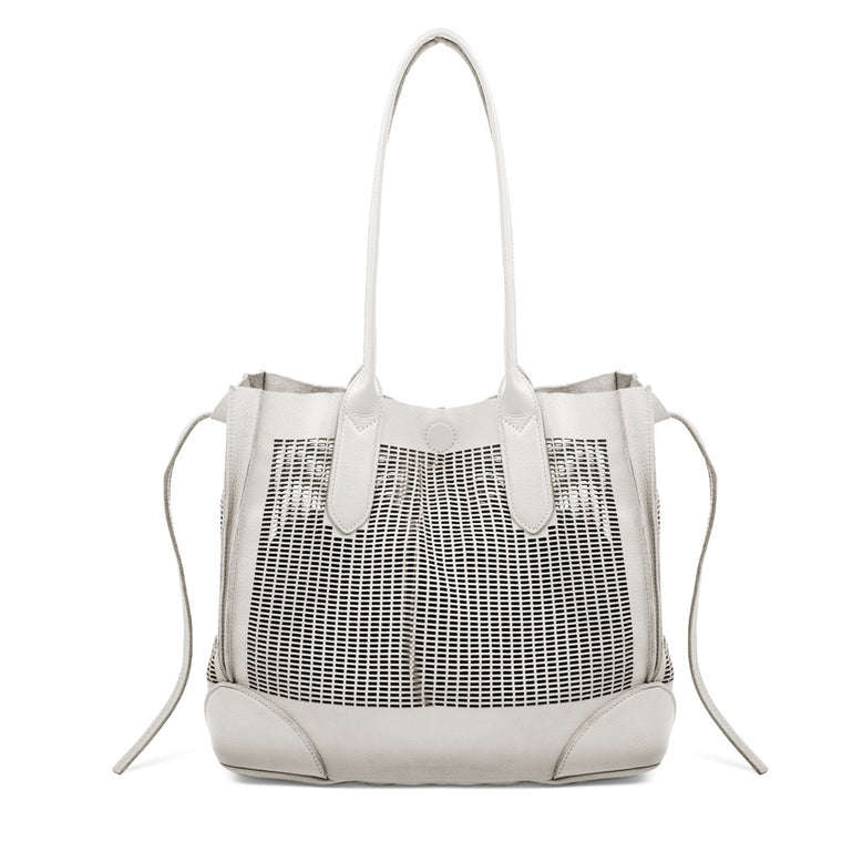 Linea Pelle Preston Tote Bag in Bone