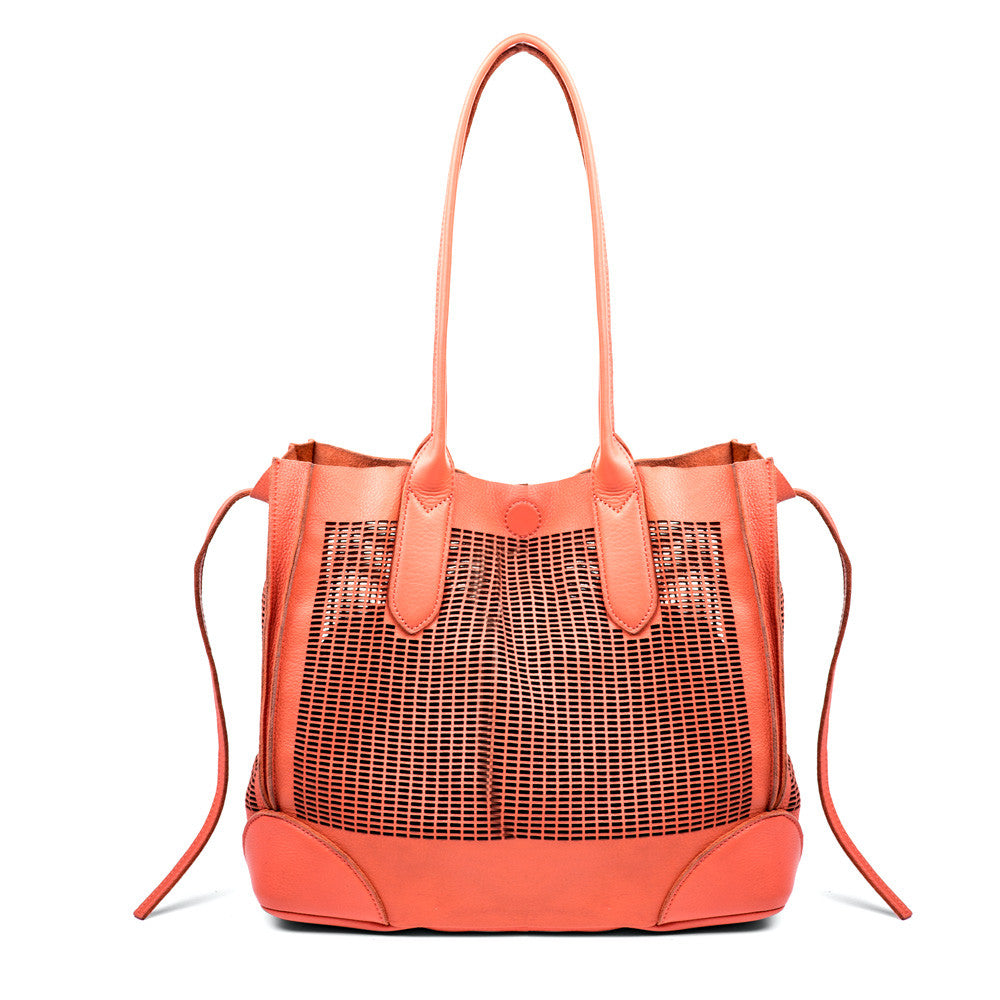 Linea Pelle Preston Tote Bag in Coral