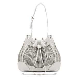 Linea Pelle Preston Bucket Bag in Bone
