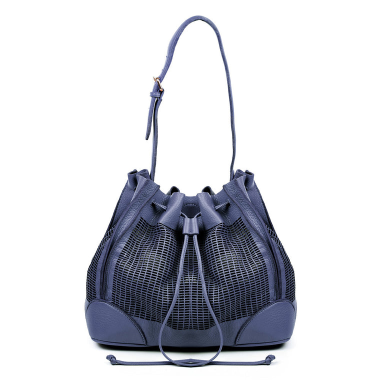 Linea Pelle Preston Bucket Bag in Navy