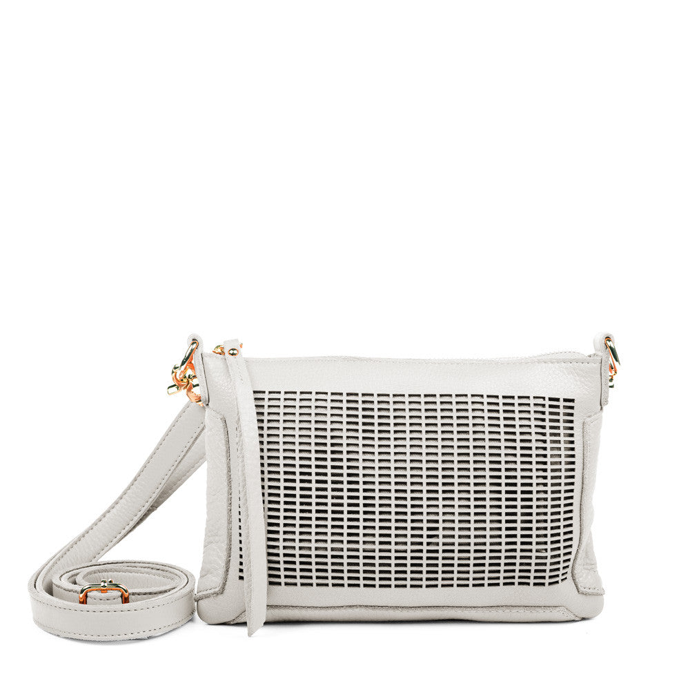 Linea Pelle Preston Crossbody Bag in Bone