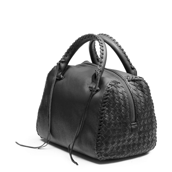 Linea Pelle Whitley Satchel in Black