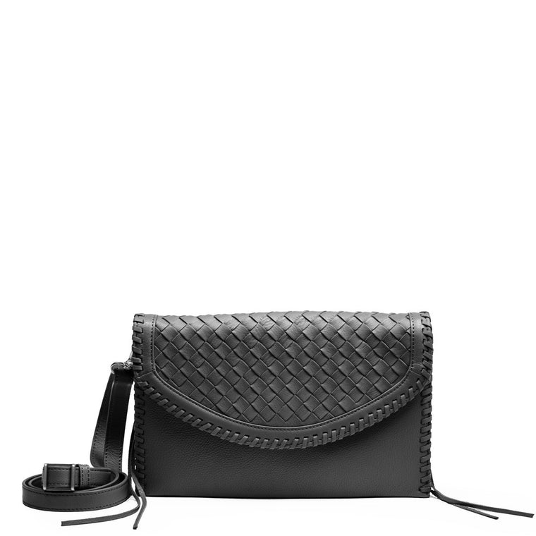 Linea Pelle Whitley Crossbody Clutch in Black