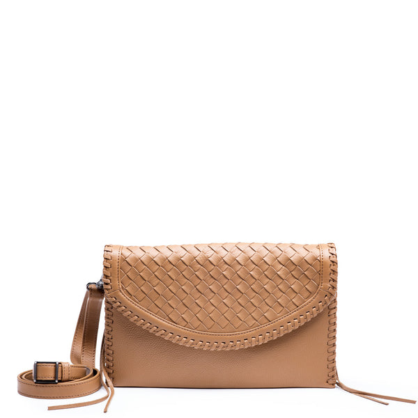 Linea Pelle Whitley Crossbody Clutch in Scotch
