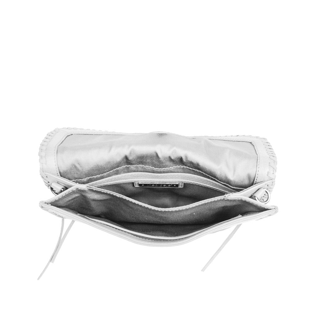 Linea Pelle Whitley Crossbody Clutch in White
