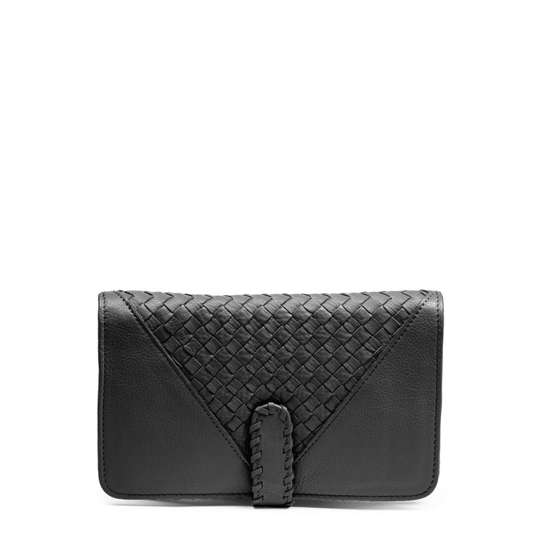 Linea Pelle Whitley Bi Fold Wallet in Black