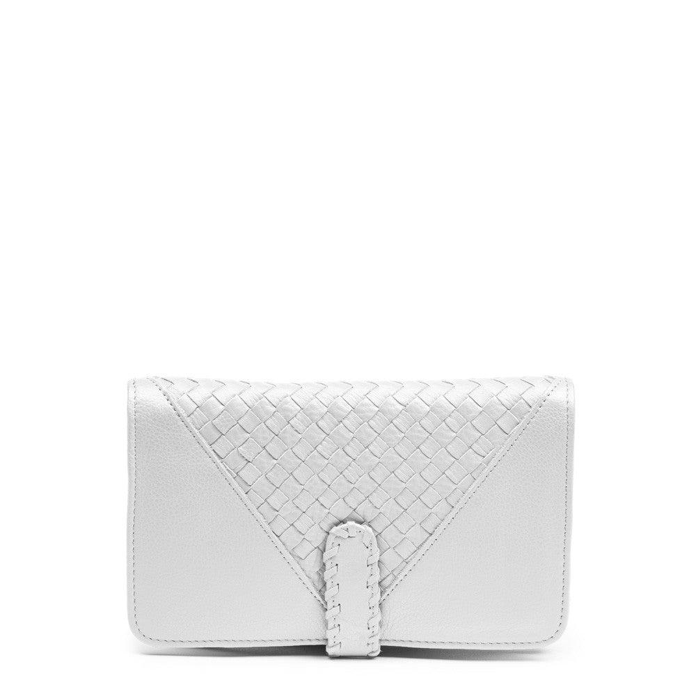 Linea Pelle Whitley Bi Fold Wallet in White