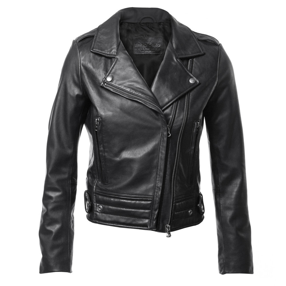 Linea Pelle Ryder Leather Jacket in Black
