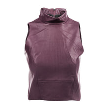Load image into Gallery viewer, The Leather Mock Neck | Burgundy