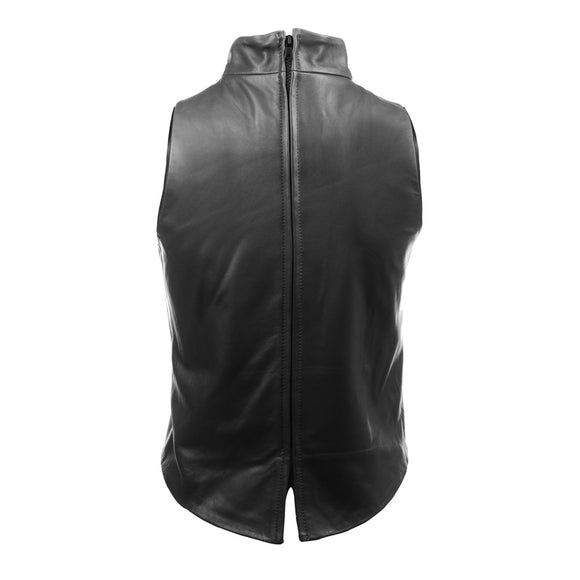 The Leather Mock Neck | Black