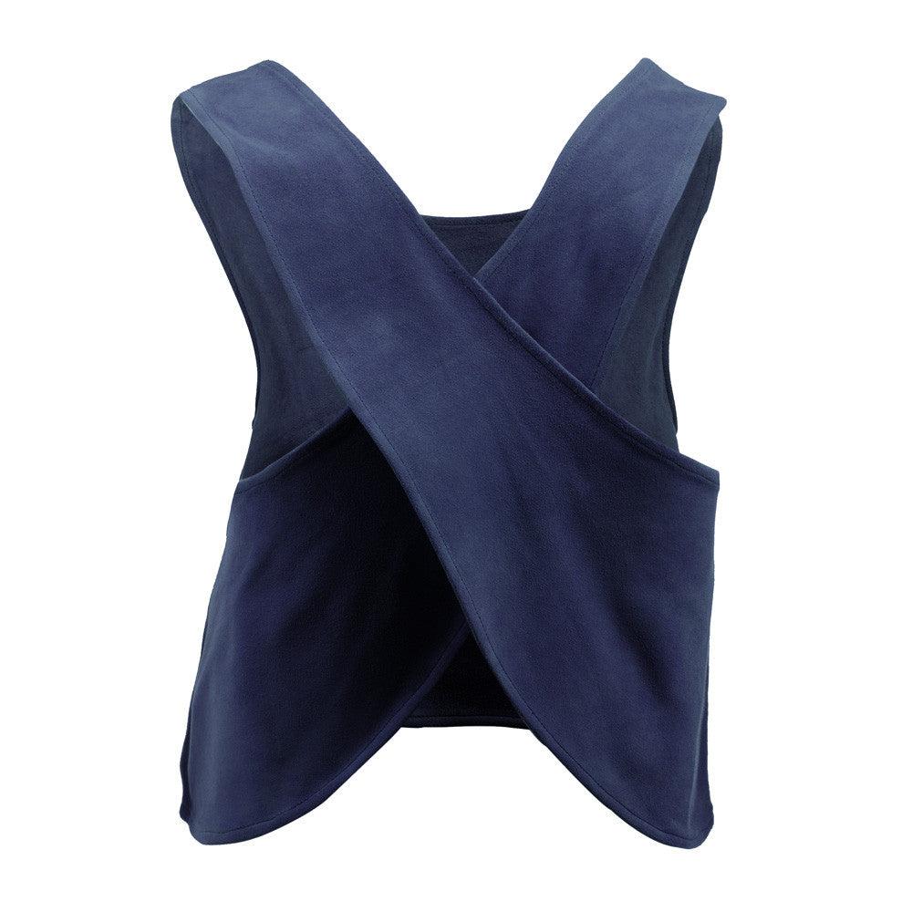Linea Pelle Criss Cross Suede Top in Navy