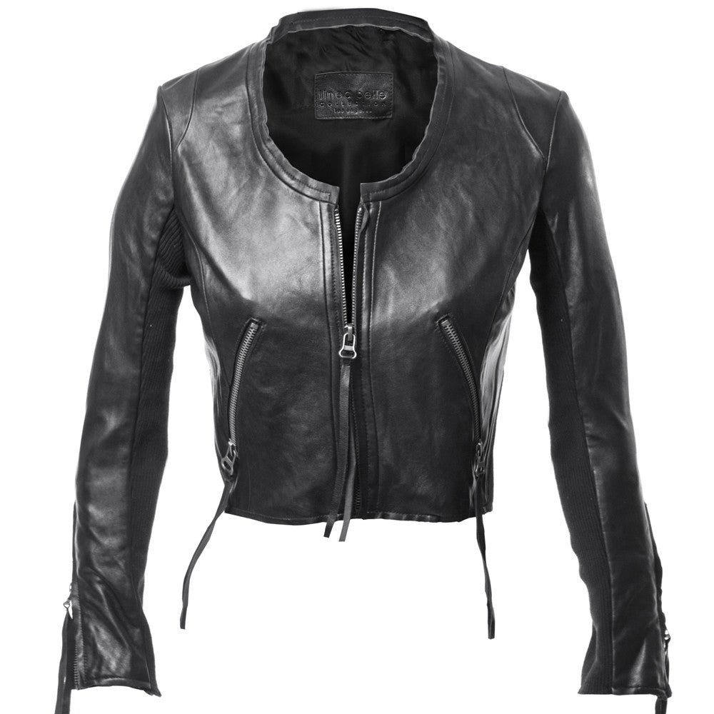 Looker Crop Leather Jacket