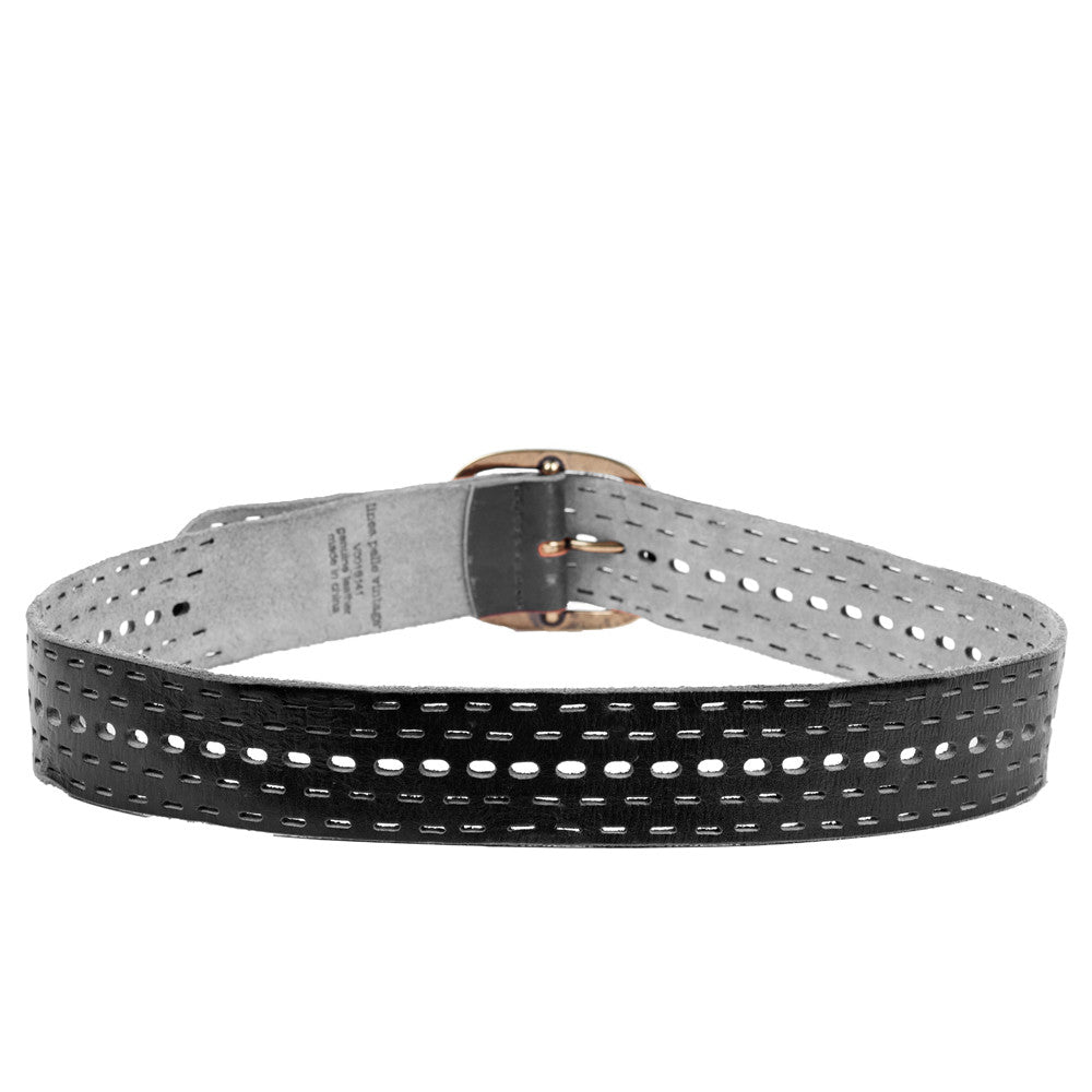 Linea Pelle Tumbled Jean Belt in Black