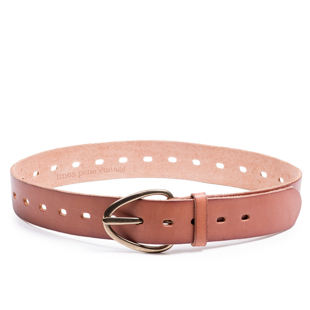 Linea Pelle Perry Perforated Belt in Cognac