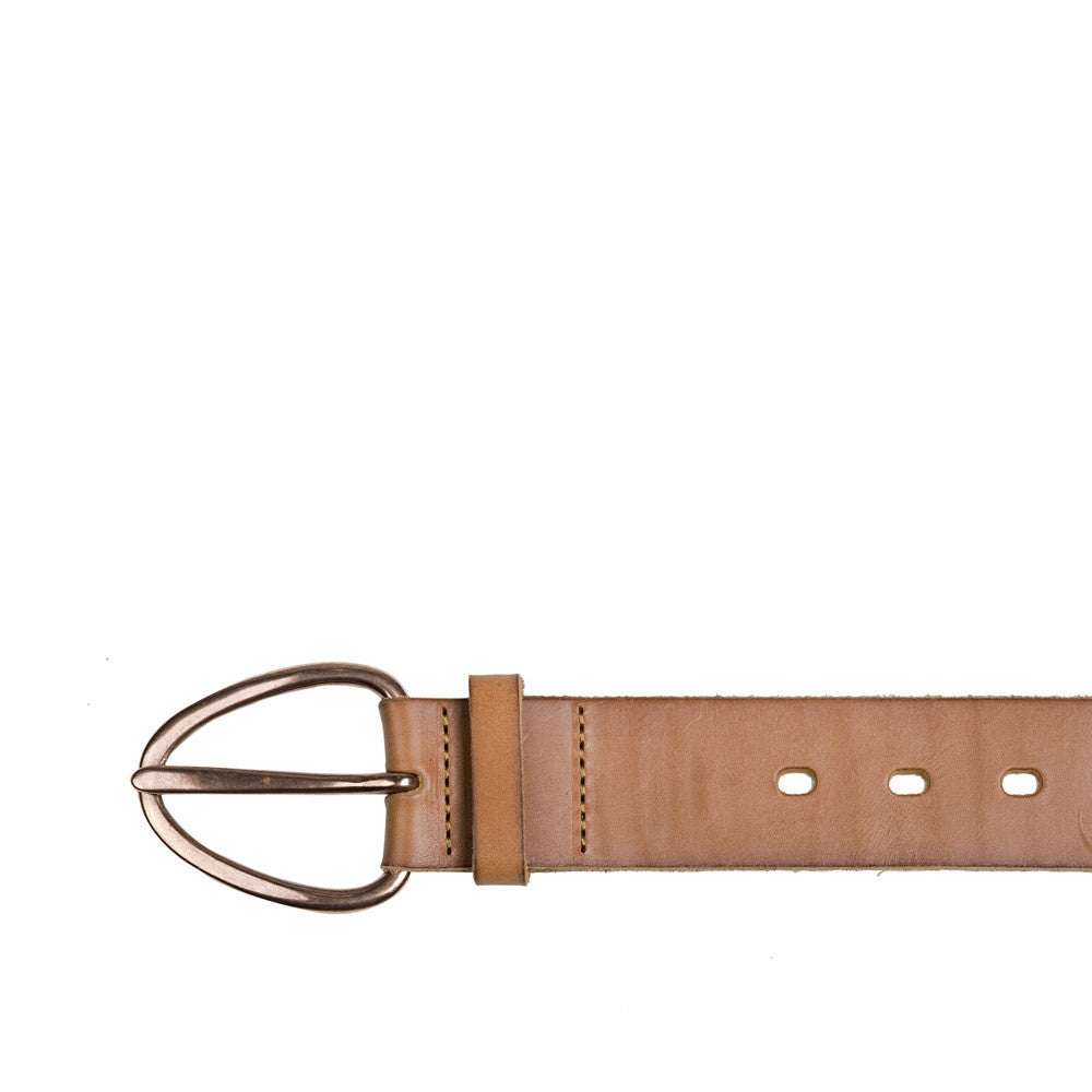 Linea Pelle Perry Perforated Belt in Olive