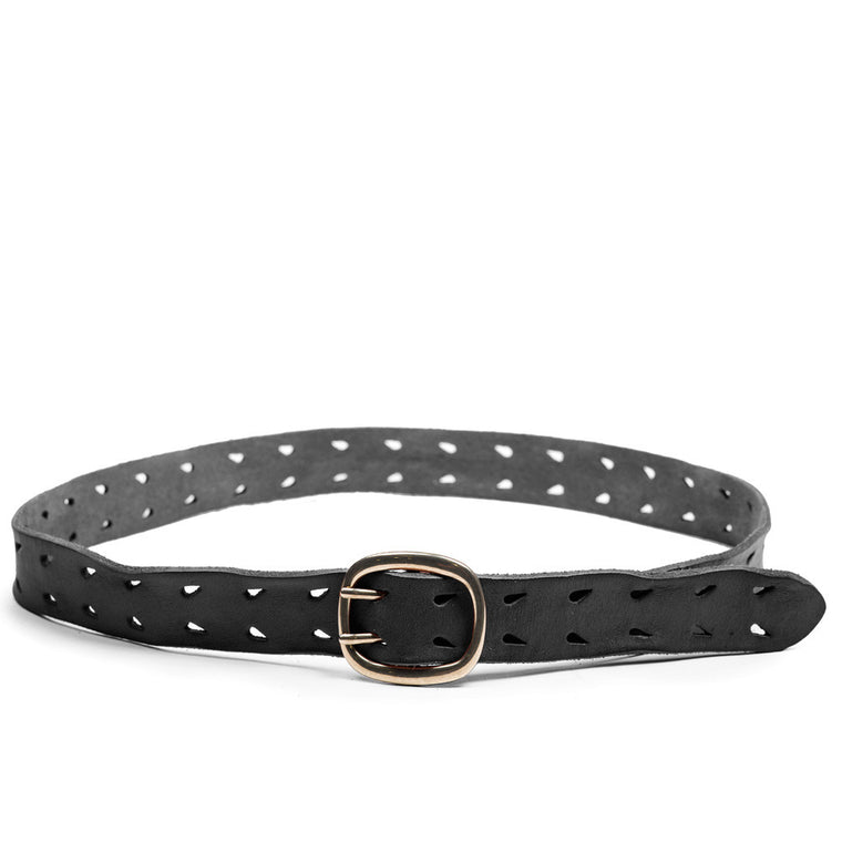 Linea Pelle Double Prong Belt in Black