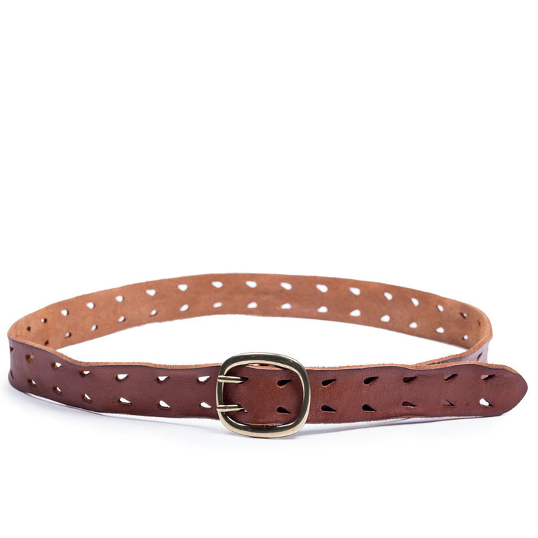 Linea Pelle Double Prong Belt in Cognac
