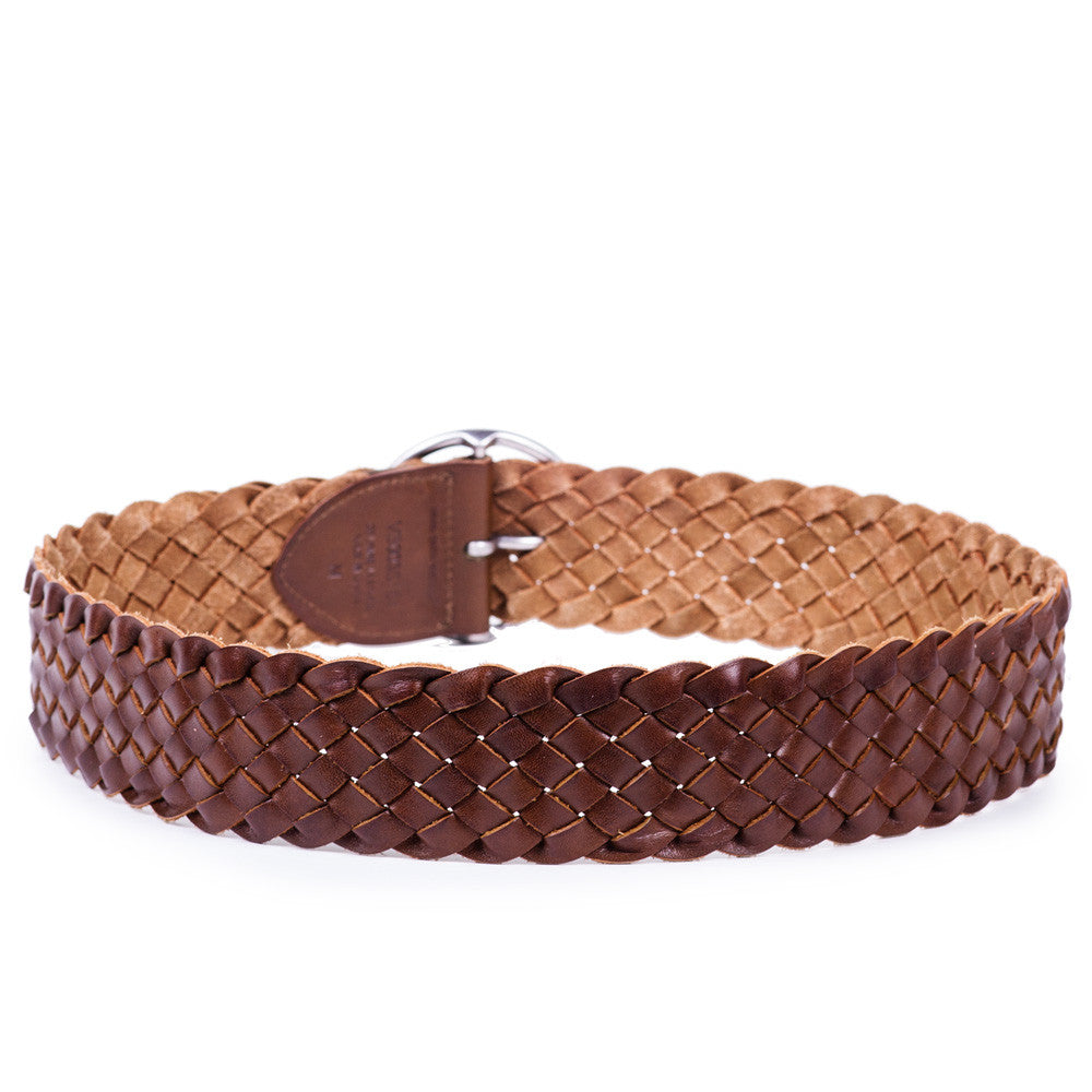 Linea Pelle Round Buckle Belt in Curry