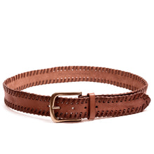 Load image into Gallery viewer, Linea Pelle Laced Edge Hip Belt in New Cognac