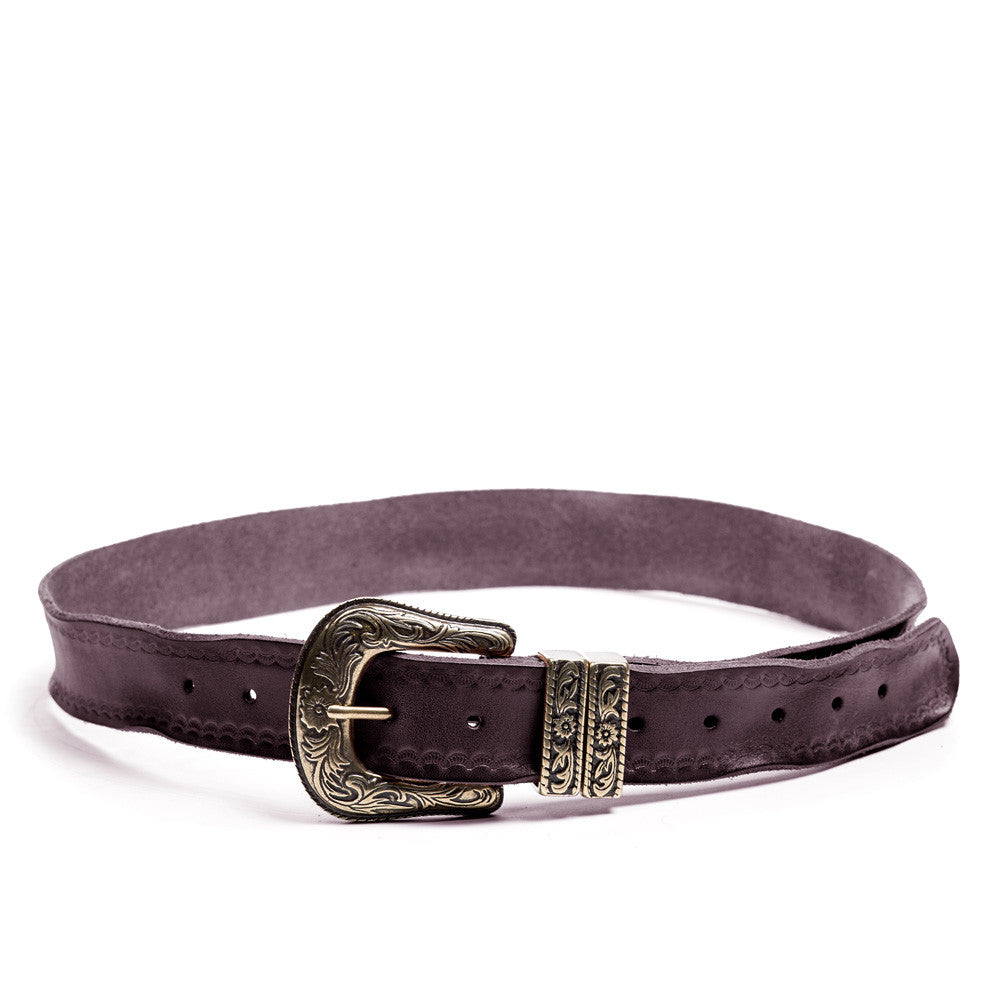 Linea Pelle Double Keeper Belt in Tmoro