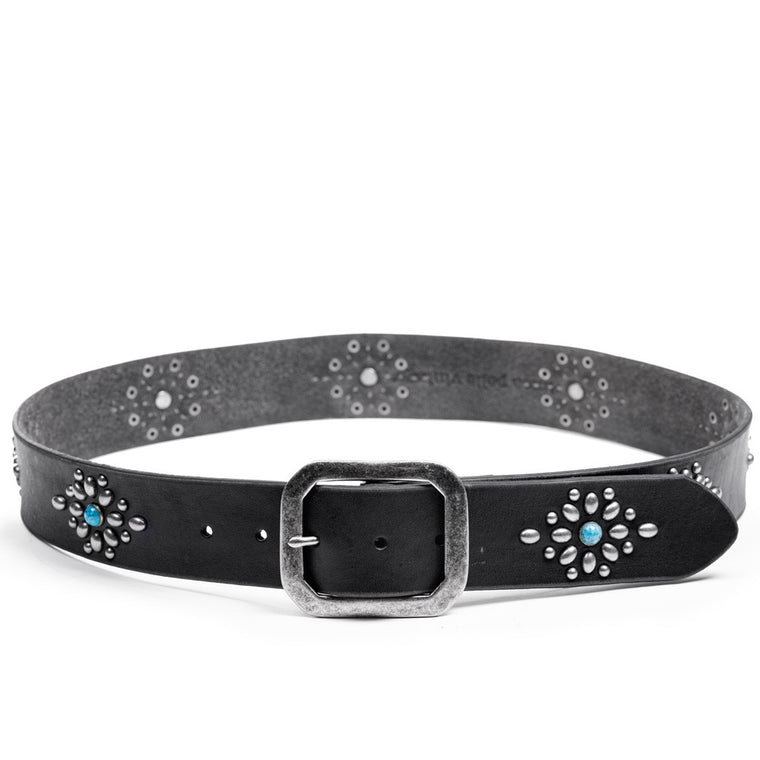 Linea Pelle Western Stud Belt in Black