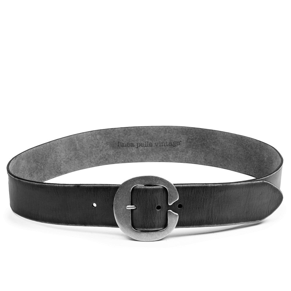 Linea Pelle Split Buckle Belt in Black