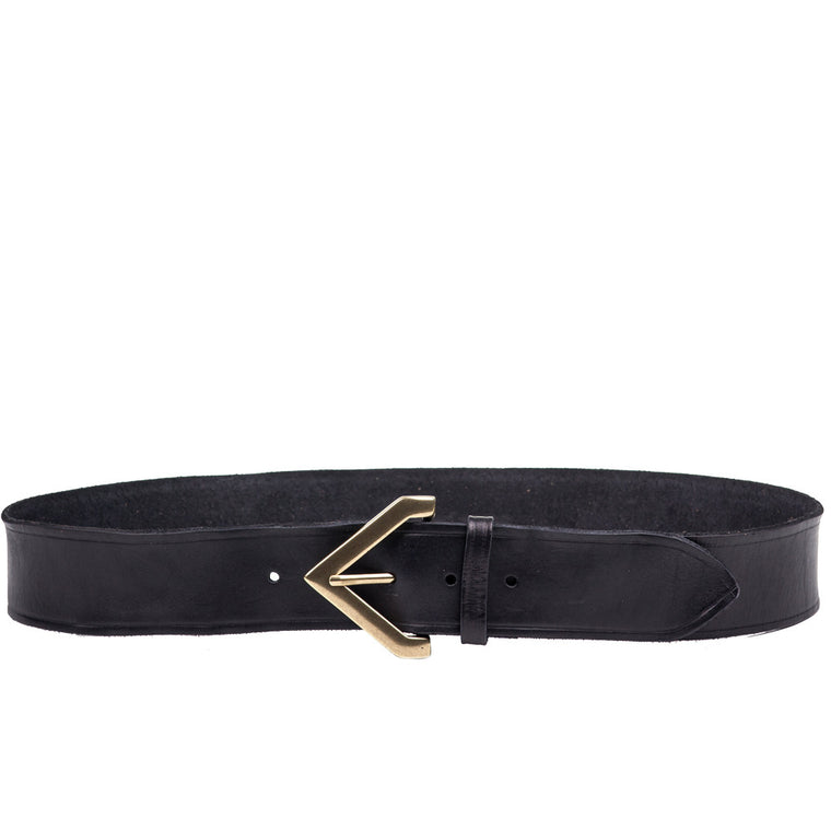 Linea Pelle Triangle Buckle Hip Belt in Black