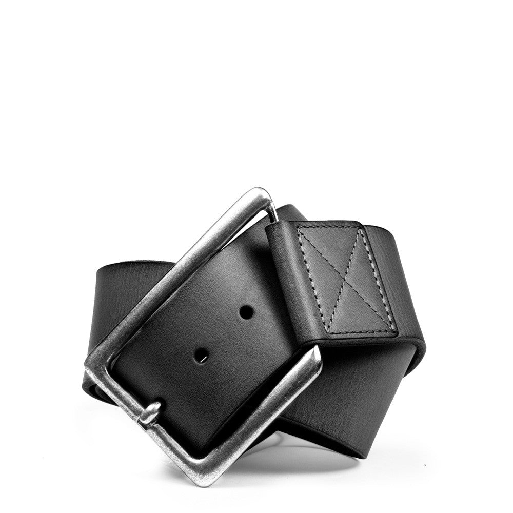 Linea Pelle Angled Buckle Hip Belt in Black