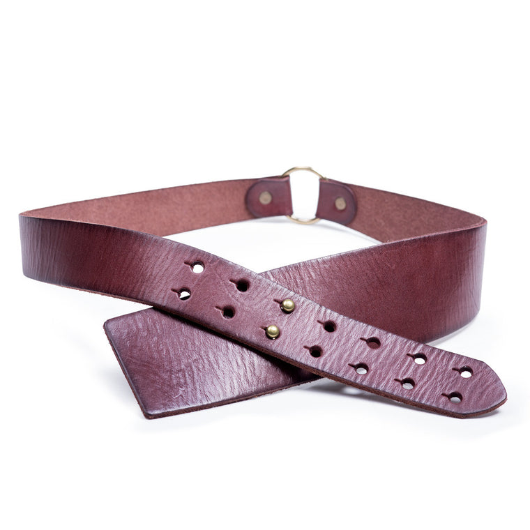 Linea Pelle Wrap Hip Belt in Rust