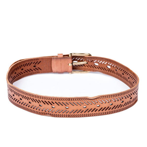 Chevron Perforated Belt