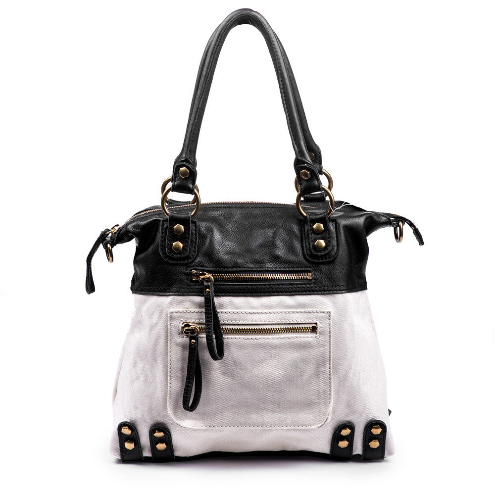 Linea Pelle Tote in Black and White