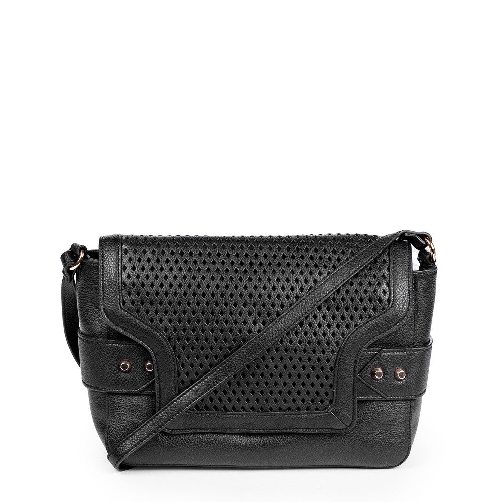 Linea Pelle Shoulder Bag in Black