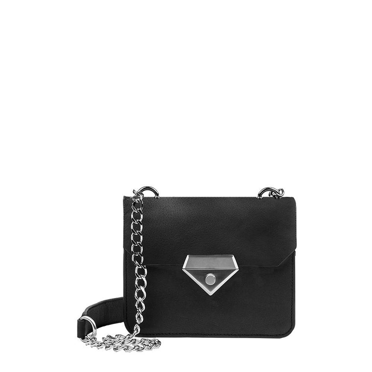 Linea Pelle Bowery Shoulder Bag in Solid Black